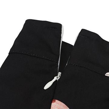 Walant Damen Ärmellos Hälftehals 2 Teile Blumendruck Mini Playsuit Jumpsuit (XL, Schwarz) - 7