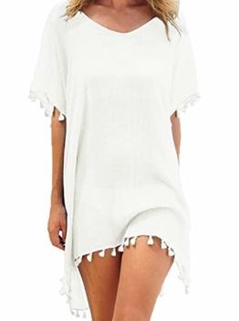 Weißes Strandkleid kurz und sexy für Urlaub 1