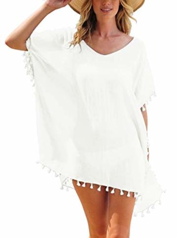 Weißes Strandkleid kurz und sexy für Urlaub 2