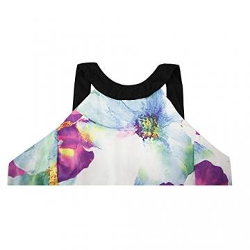 West See, Damen Sexy Ärmellos Minikleid Strandkleid mit floralem Print (M) - 3