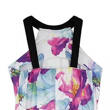 West See, Damen Sexy Ärmellos Minikleid Strandkleid mit floralem Print (M) - 4