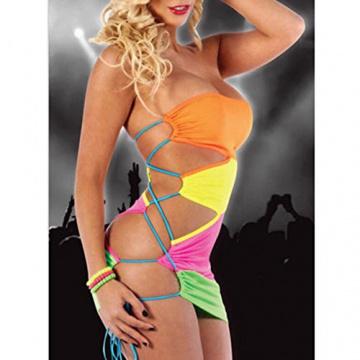 West See Frauen Sommer ärmellos Party Abend Kurz Kleider Minikleid - 2