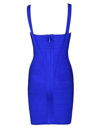 Whoinshop Damen Rayon Nettes Ärmellos Bodycon Abendkleid Sommerkleid Verbandkleid … (S, Royal) - 2