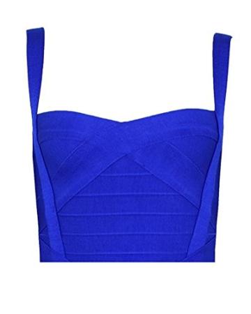 Whoinshop Damen Rayon Nettes Ärmellos Bodycon Abendkleid Sommerkleid Verbandkleid … (S, Royal) - 3