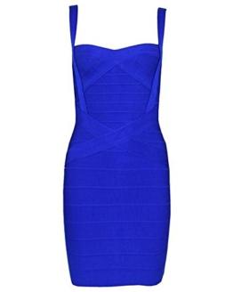 Whoinshop Damen Rayon Nettes Ärmellos Bodycon Abendkleid Sommerkleid Verbandkleid … (S, Royal) - 1
