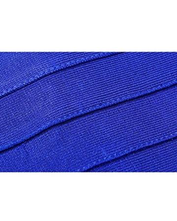 Whoinshop Damen Rayon Nettes Ärmellos Bodycon Abendkleid Sommerkleid Verbandkleid … (S, Royal) - 4