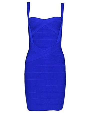 Whoinshop Damen Rayon Nettes Ärmellos Bodycon Abendkleid Sommerkleid Verbandkleid … (S, Royal) - 1