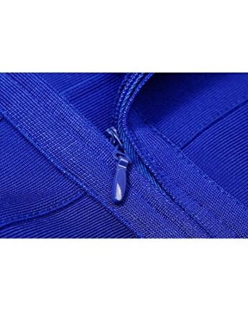 Whoinshop Damen Rayon Nettes Ärmellos Bodycon Abendkleid Sommerkleid Verbandkleid … (S, Royal) - 5