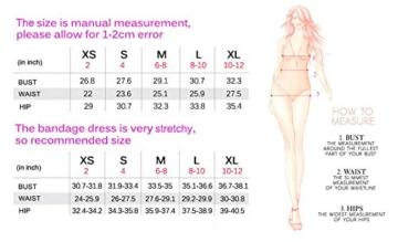 Whoinshop Damen Rayon Nettes Ärmellos Bodycon Abendkleid Sommerkleid Verbandkleid … (S, Royal) - 6