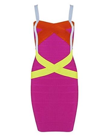 Whoinshop Frauen Rayon Nettes Sleeveless Bodycon Verband-Bügel-Kleid Bunt M - 1