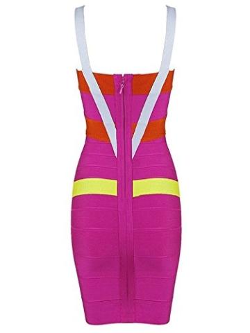 Whoinshop Frauen Rayon Nettes Sleeveless Bodycon Verband-Bügel-Kleid Bunt M - 2