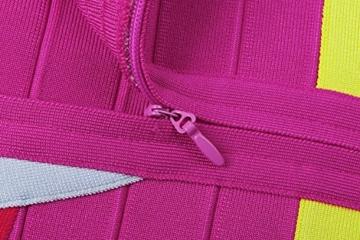 Whoinshop Frauen Rayon Nettes Sleeveless Bodycon Verband-Bügel-Kleid Bunt M - 4