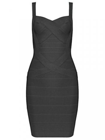 Whoinshop Frauen Rayon Nettes Sleeveless Bodycon Verbandkleid BügelKleid (S, schwarz) -