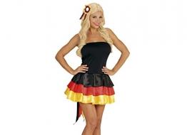 Widmann 76041 - Kleid Miss Deutschland, schwarz / rot / gelb, Größe S - 1