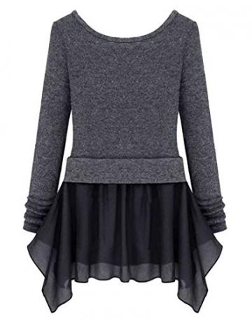 Womdee(TM) Damen Modern U Ausschnitt Langarm Strick Freizeit Kleid - 2
