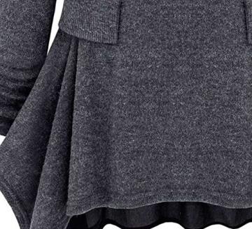 Womdee(TM) Damen Modern U Ausschnitt Langarm Strick Freizeit Kleid - 3