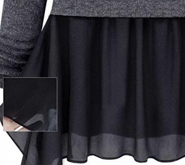 Womdee(TM) Damen Modern U Ausschnitt Langarm Strick Freizeit Kleid - 4