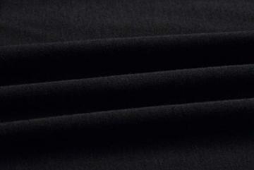 Woweal Minikleid Damen Sommer Mode T-Shirt-Kleid Einfarbig Kurzarm Kleider Tunikakleid Partykleid Kleid Dress (Schwarz, XL) - 4