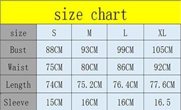Woweal Minikleid Damen Sommer Mode T-Shirt-Kleid Einfarbig Kurzarm Kleider Tunikakleid Partykleid Kleid Dress (Schwarz, XL) - 5