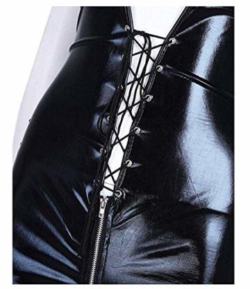 XGNL Lingerie Wonder Pretty Ladies Clubwear Jumpsuits Overall Leather Wet Look PVC Dress Bodysuit Catsuit Catwoman - 5