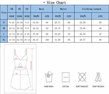 Yidarton Damen Boho Ärmellos Sommerkleid Strandkleid Casual Mini Schulter Overall Playsuit (Medium, Blau-LB) - 2