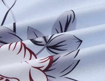 Yidarton Damen Boho Ärmellos Sommerkleid Strandkleid Casual Mini Schulter Overall Playsuit (Medium, Blau-LB) - 3