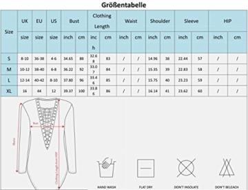 Yidarton Damen Minikleid Lace-up Lange Ärmel Tiefe V-Ausschnitt Mini Hemdkleid Tops Bluse (X-Large, Schwarz) - 3
