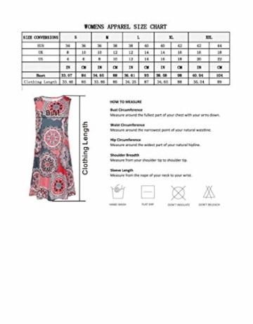Yidarton Sommerkleid Tunika ärmellos für Urlaub und Strand   Rundhals 6