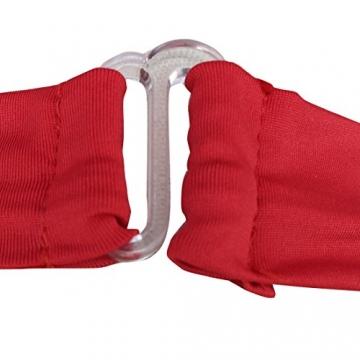 YiZYiF Sexy Durchsichtig Minikleid Babydoll Dessous Set Damen Kleid Reizvolle Wäsche + G-string Rot Einheitsgröße (Brust 78-120cm) - 6