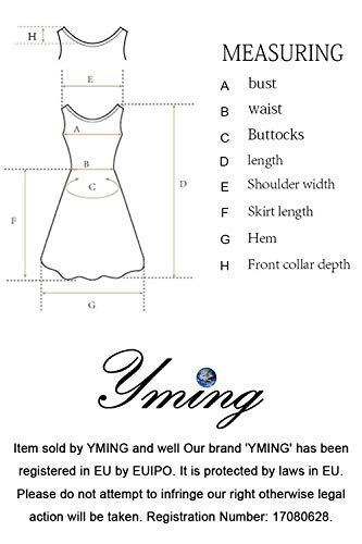 YMING Damen Shirtkleid Casual Tunikakleid Rundhals Longshirt Kurzarm Loose T-Shirtkleid,Blue,XS/DE 32-34 - 4