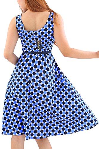 YMING Frauen 1950S Weinlese sleeveless Cocktailparty Picknick Schaukel Kleider Kleid -