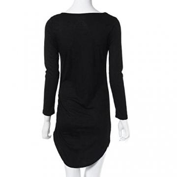 Yogogo Womens Bodycon Langarm-Kleid-Dame-Partei-Abend-Minikleid (S, Schwarz) -