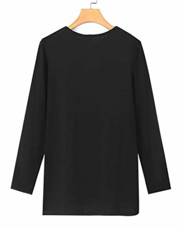 YOINS Sexy Oberteil Damen Langarmshirts Pullover Damen Herbst Sweatshirt T-Shirt V-Ausschnitt Tops - 4