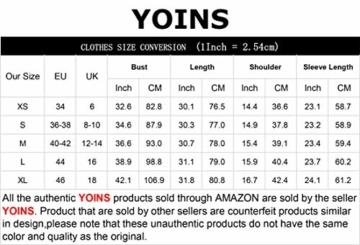 YOINS Sexy Oberteil Damen Langarmshirts Pullover Damen Herbst Sweatshirt T-Shirt V-Ausschnitt Tops - 5