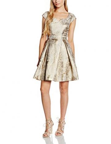 Yumi Damen, Kleid, Metallic Jacquard Dress, Elfenbein (ivory), DE:36/FR:36 (Herstellergröße: Size 10) - 1