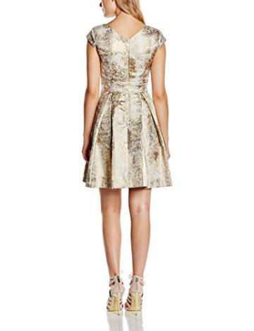 Yumi Damen, Kleid, Metallic Jacquard Dress, Elfenbein (ivory), DE:36/FR:36 (Herstellergröße: Size 10) - 2
