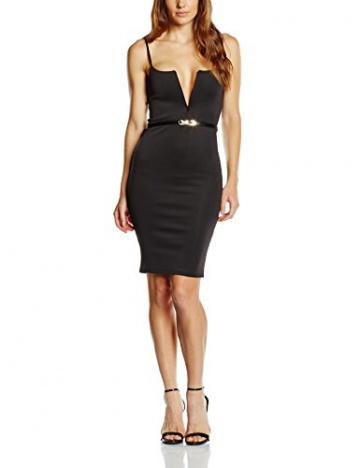 Zabaione Damen Kleid Trägerkleid, Knielang, Gr. 36 (Herstellergröße: S), Schwarz (black 90001) - 1