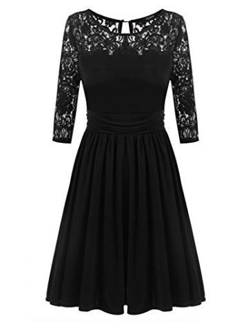 Zeagoo Damen Absclusskleid Partykleid Cocktailkleid Festliche Kleider mit Spitze an Obertail -