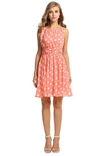 Zeagoo Damen Elegant Cocktailkleid Sommerkleid Partykleid A-Linie Festliches Kleid mit Falten -