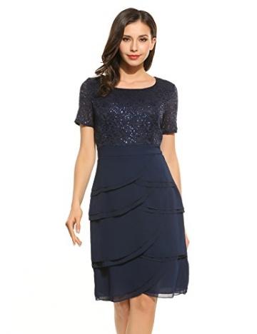 Kleid dunkelblau mit spitze