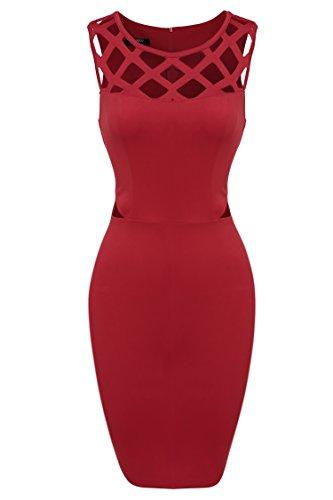 Zeagoo Damen Partykleid Figurbetontes Kleid Bodycon - 1