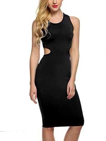 Zeagoo Damen Sexy Bodycon Partykleid COcktailkleid Stretch Kleid -