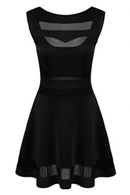 Zeagoo Damen Sexy Sommerkleid Partykleid A Linie Kleid Hohe Taille Rückenfrei -