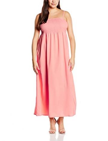 Zizzi Damen Kleid X92145B, Maxi, Gr. 42 (Herstellergröße: S), Rosa (Desert Flower 9993) - 1